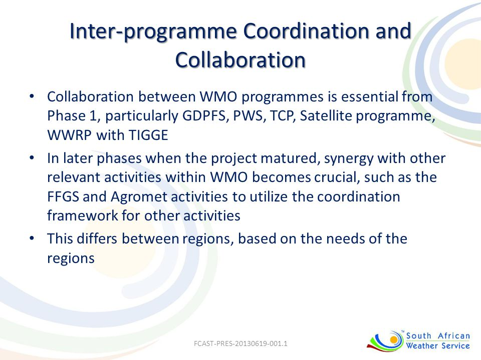 Inter-programme Coordination and Collaboration