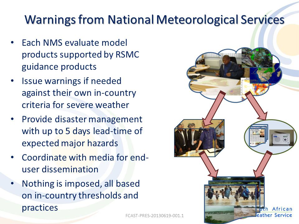 Warnings from National Meteorological Services