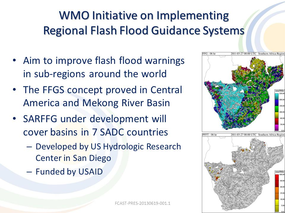 WMO Initiative on Implementing Regional Flash Flood Guidance Systems