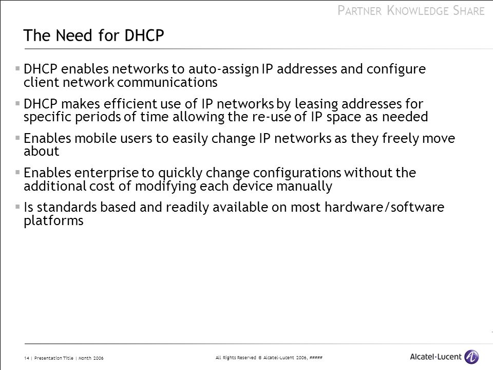 The Need for DHCP DHCP enables networks to auto-assign IP addresses and configure client network communications.