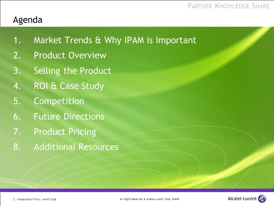 Market Trends & Why IPAM is Important Product Overview