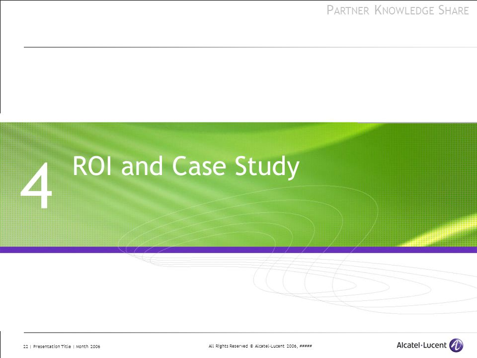 4 ROI and Case Study This lesson explores topics to assist business partners in selling VitalQIP.