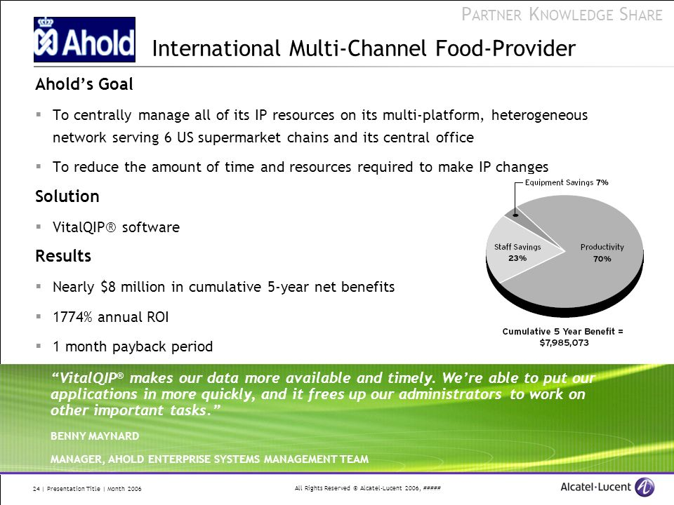 International Multi-Channel Food-Provider