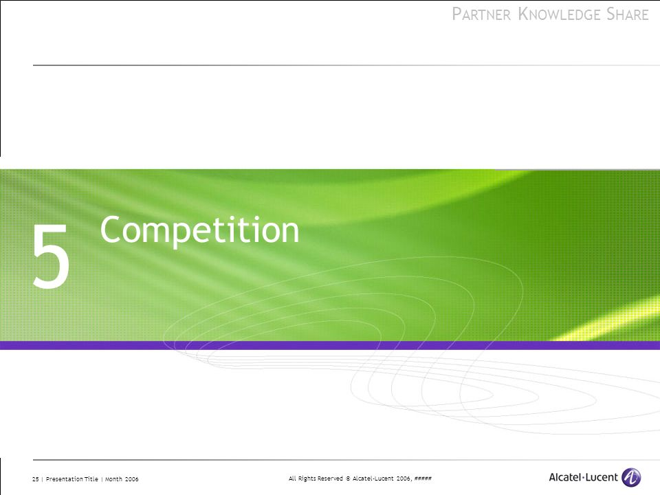 5 Competition This lesson explores topics to assist business partners in selling VitalQIP.