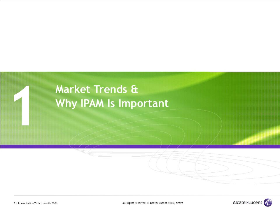 1 Market Trends & Why IPAM Is Important Divider Section Break Pages