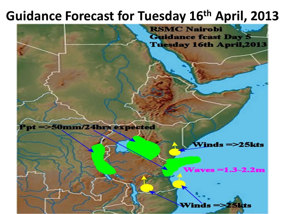 Guidance Forecast for Tuesday 16th April, 2013