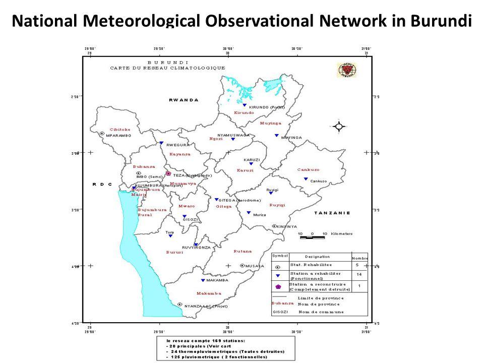 National Meteorological Observational Network in Burundi