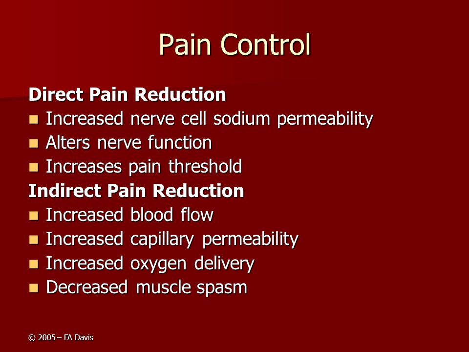 Pain Control Direct Pain Reduction