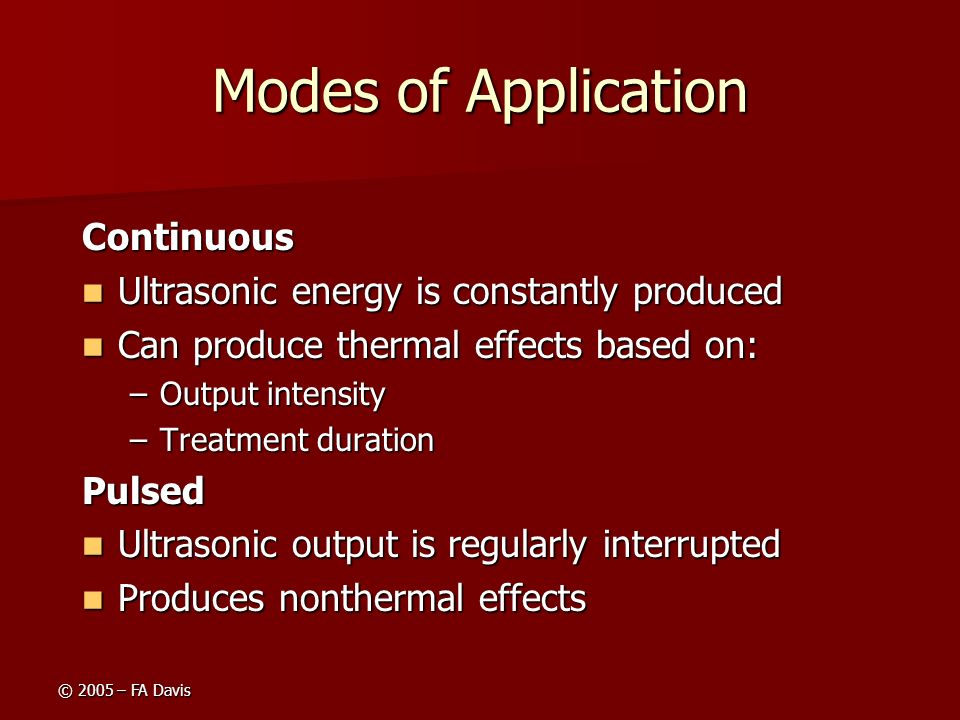 Modes of Application Continuous