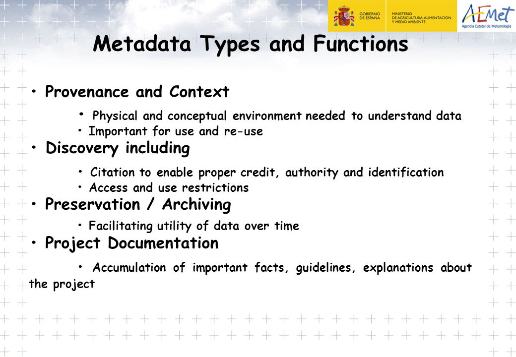 Metadata Types and Functions