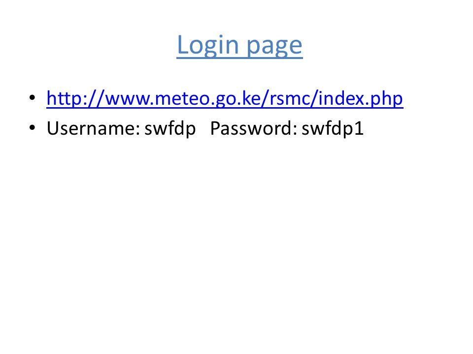Login page http://www.meteo.go.ke/rsmc/index.php