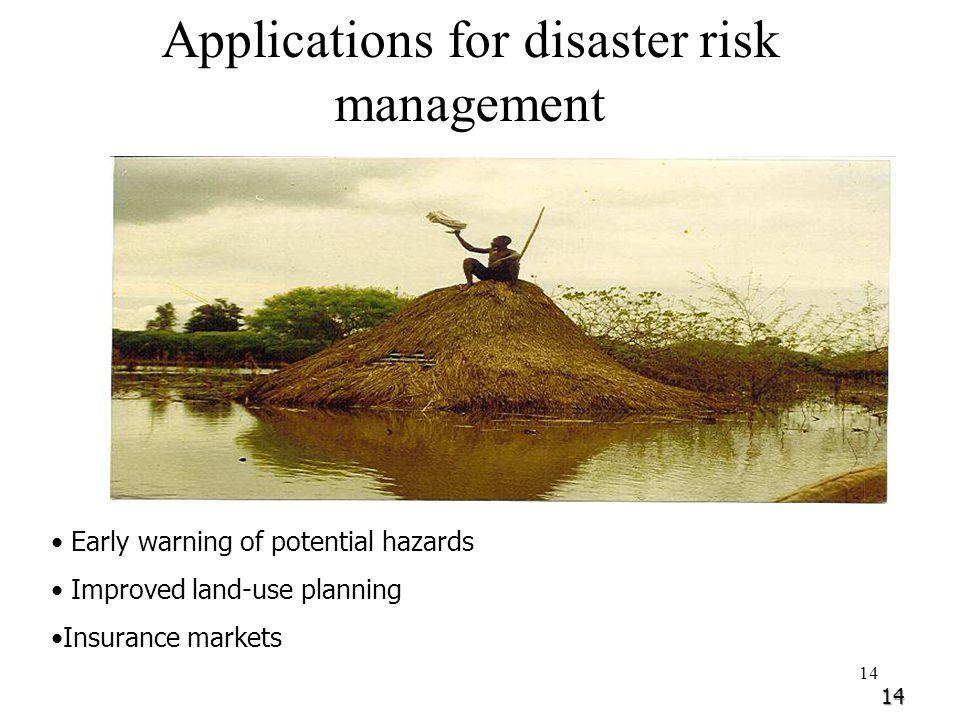Applications for disaster risk management