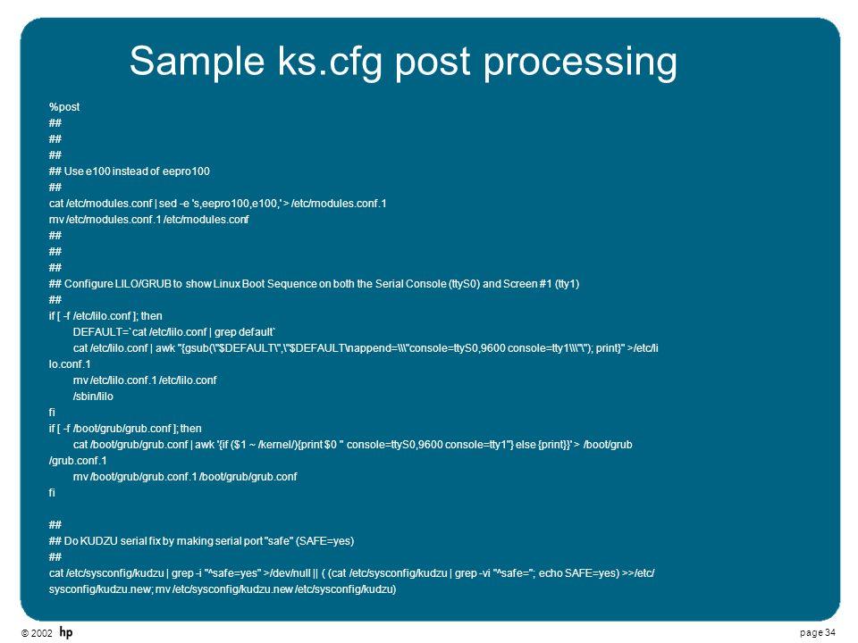 Sample ks.cfg post processing