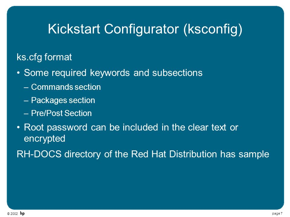 Kickstart Configurator (ksconfig)