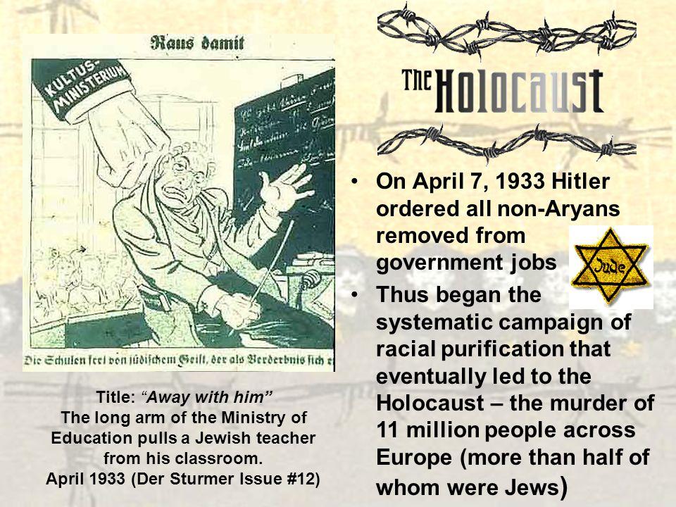 April 1933 (Der Sturmer Issue #12)