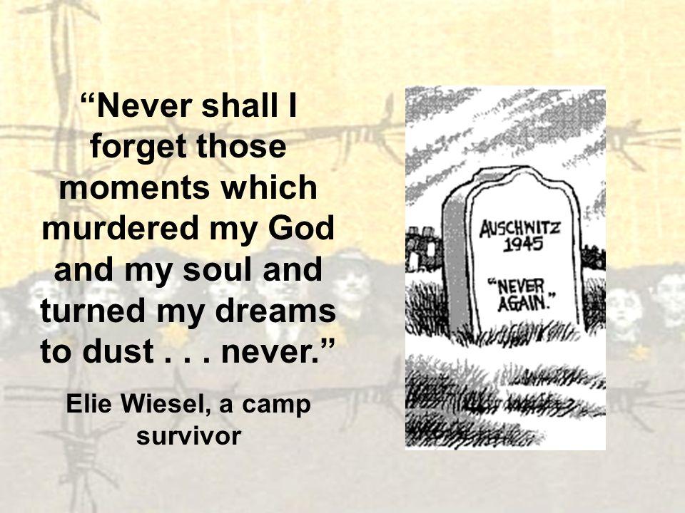 Elie Wiesel, a camp survivor