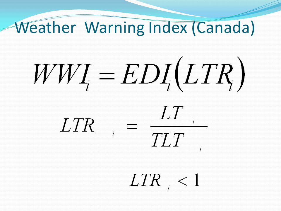 Weather Warning Index (Canada)