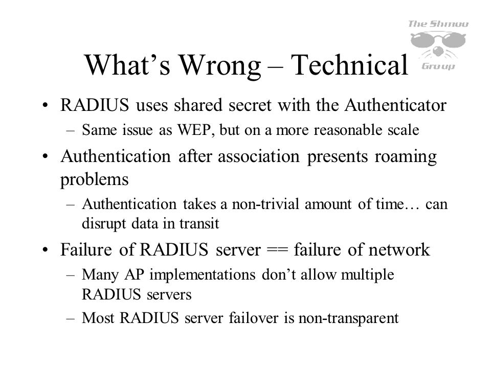 What's Wrong – Technical