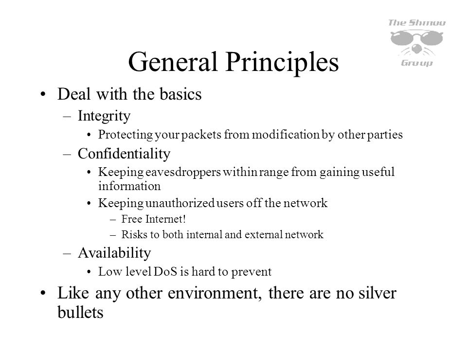 General Principles Deal with the basics