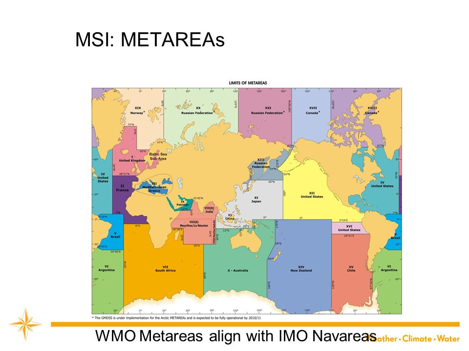 WMO Metareas align with IMO Navareas