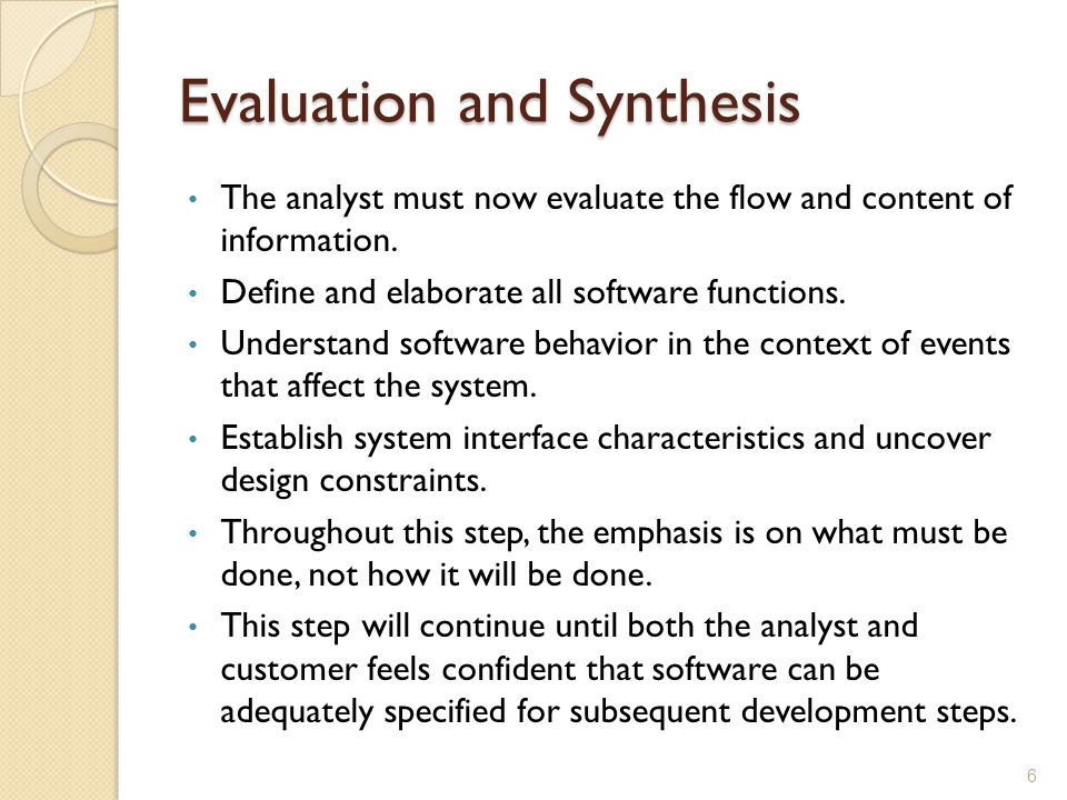 Evaluation and Synthesis