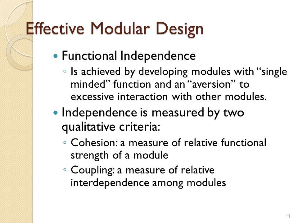 Effective Modular Design