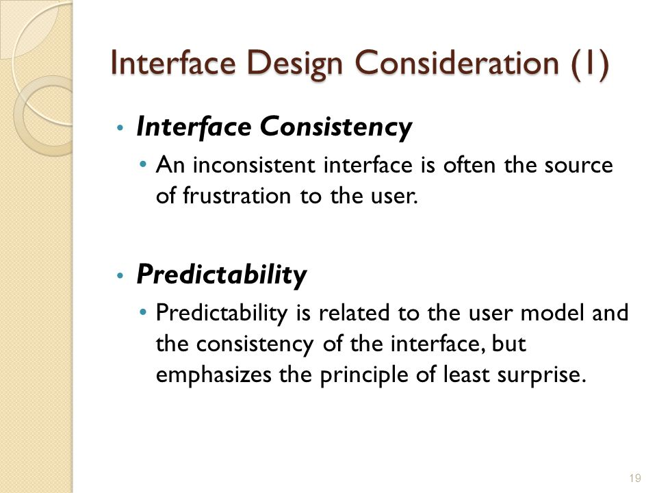Interface Design Consideration (1)