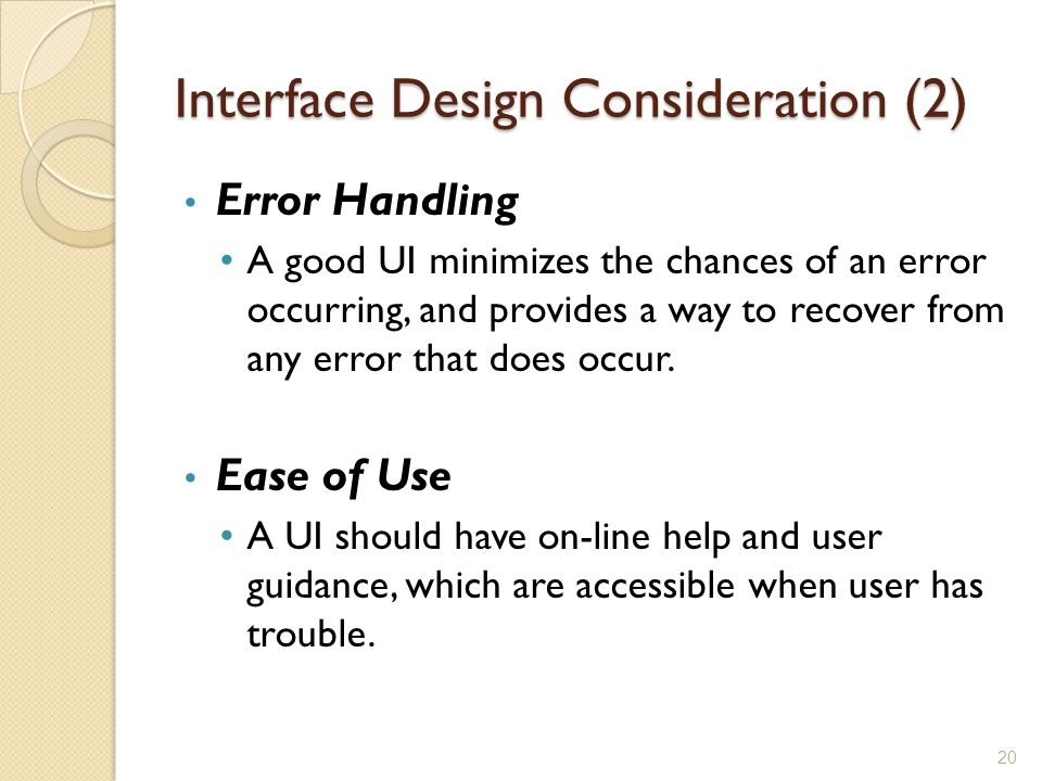Interface Design Consideration (2)