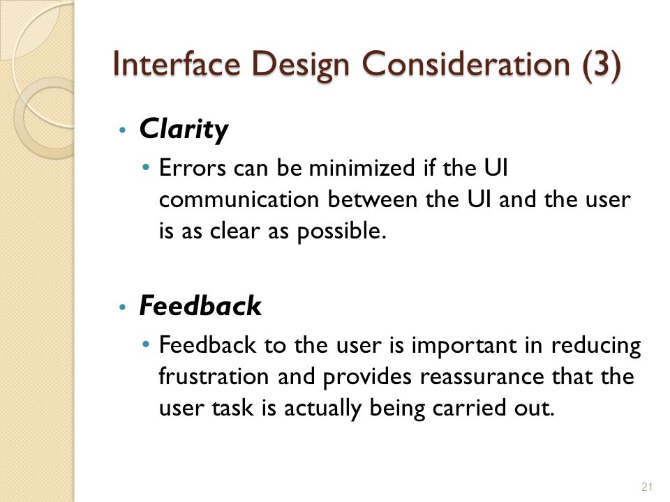 Interface Design Consideration (3)