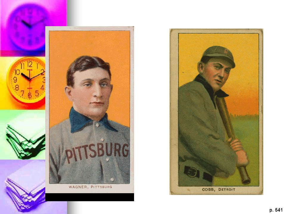 BASEBALL TRADING CARD To encourage boys and young men to smoke cigarettes, the American Tobacco Company included in the cigarette package collectable cards with pictures of baseball heroes such as Ty Cobb.