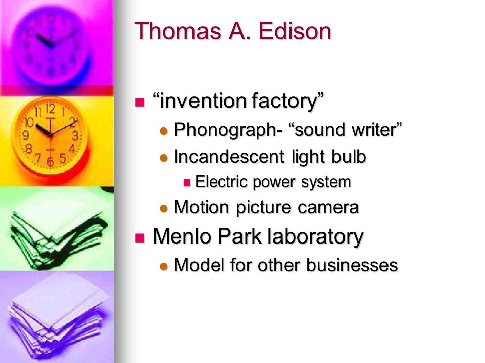 Thomas A. Edison invention factory Menlo Park laboratory