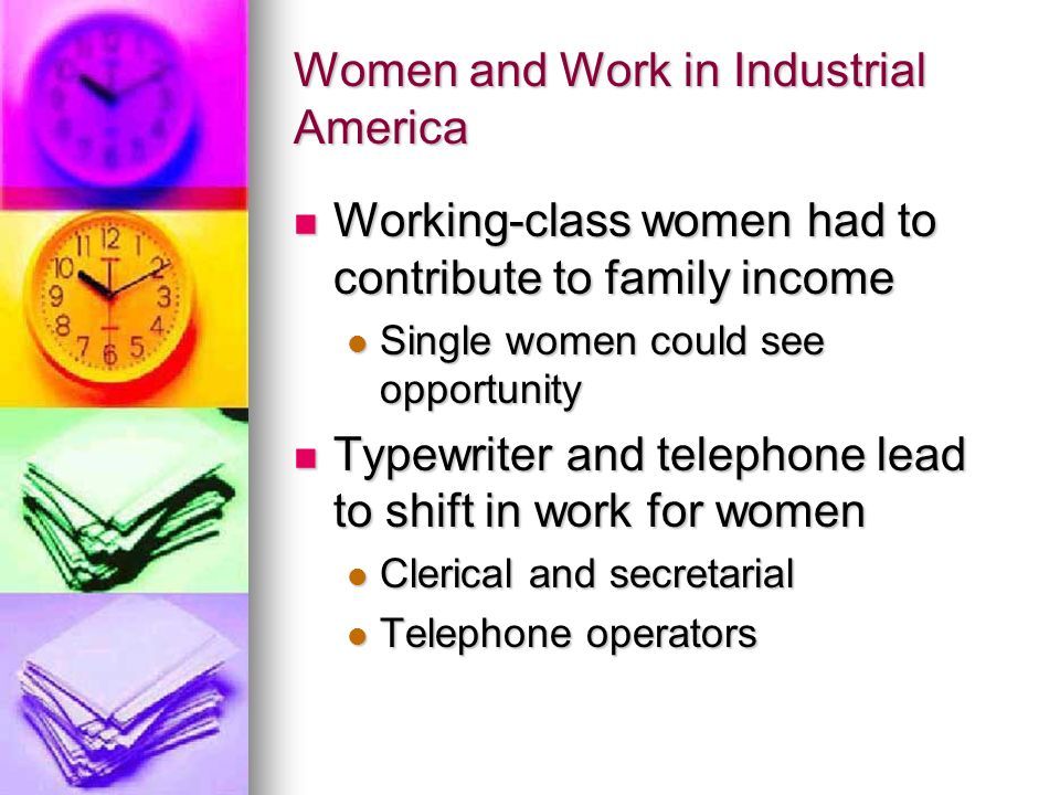 Women and Work in Industrial America