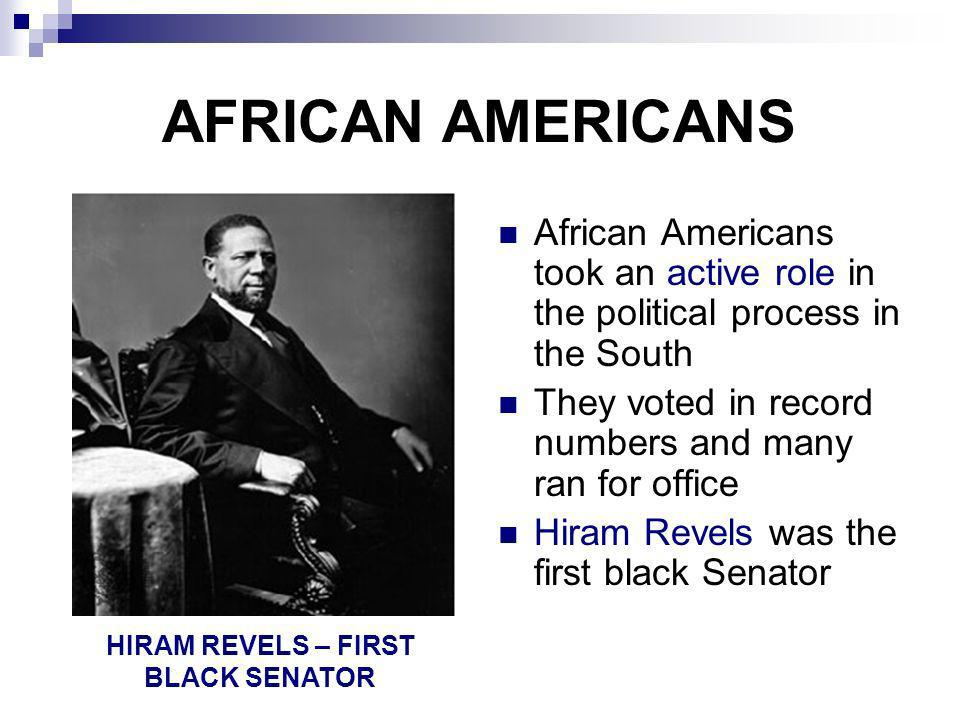 HIRAM REVELS – FIRST BLACK SENATOR