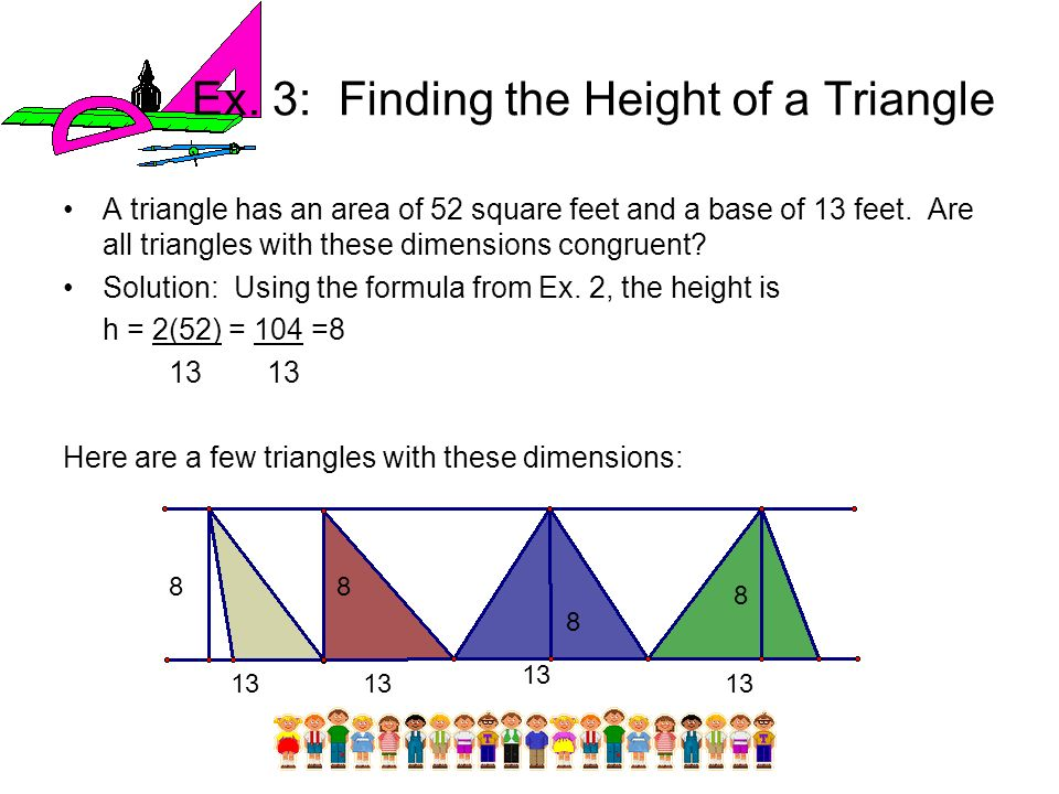 Ex. 3: Finding the Height of a Triangle