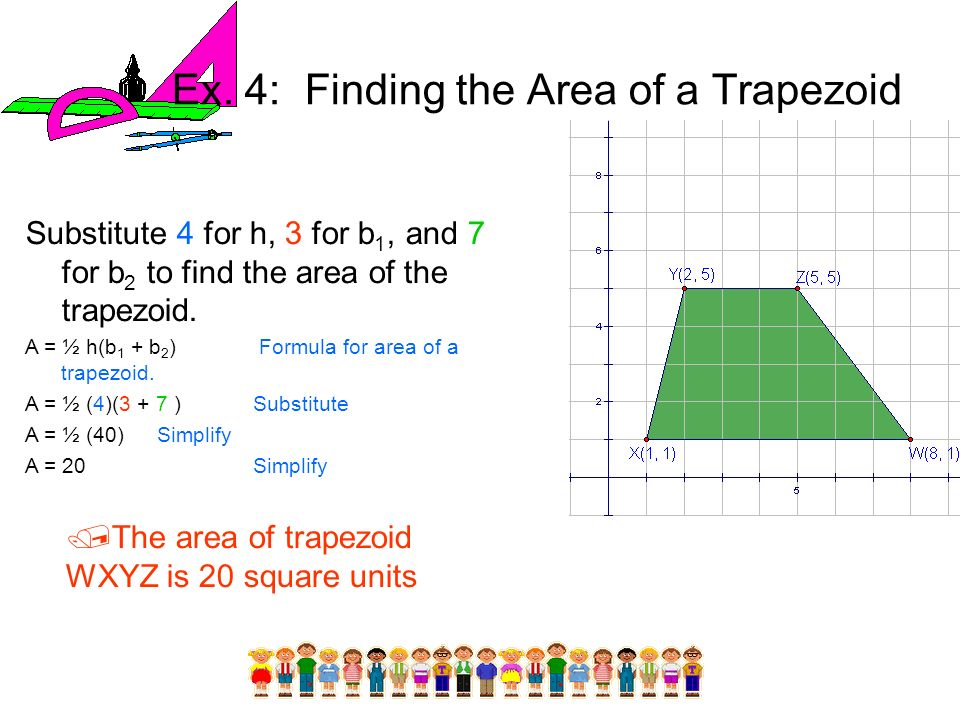 Ex. 4: Finding the Area of a Trapezoid