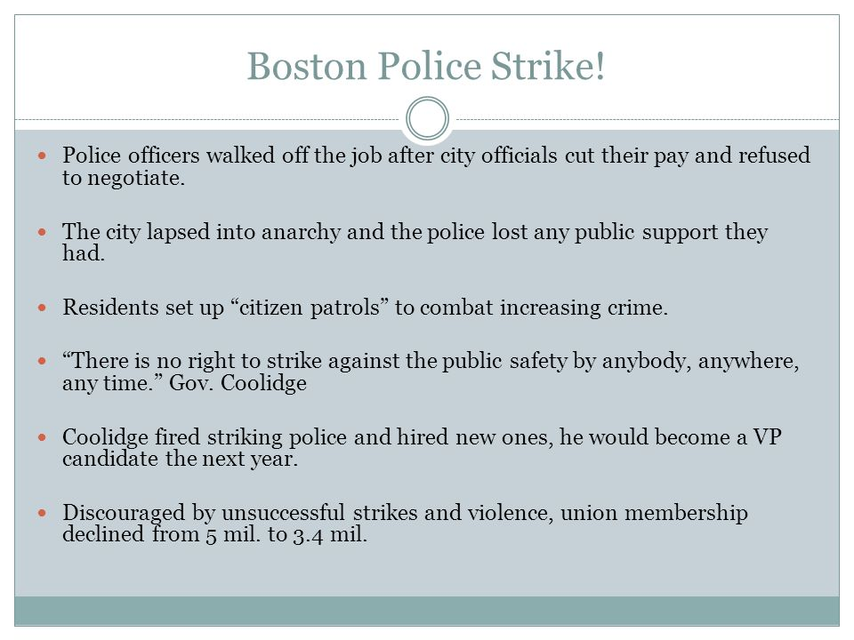 Boston Police Strike! Police officers walked off the job after city officials cut their pay and refused to negotiate.