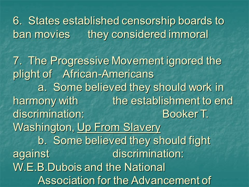6. States established censorship boards to ban movies