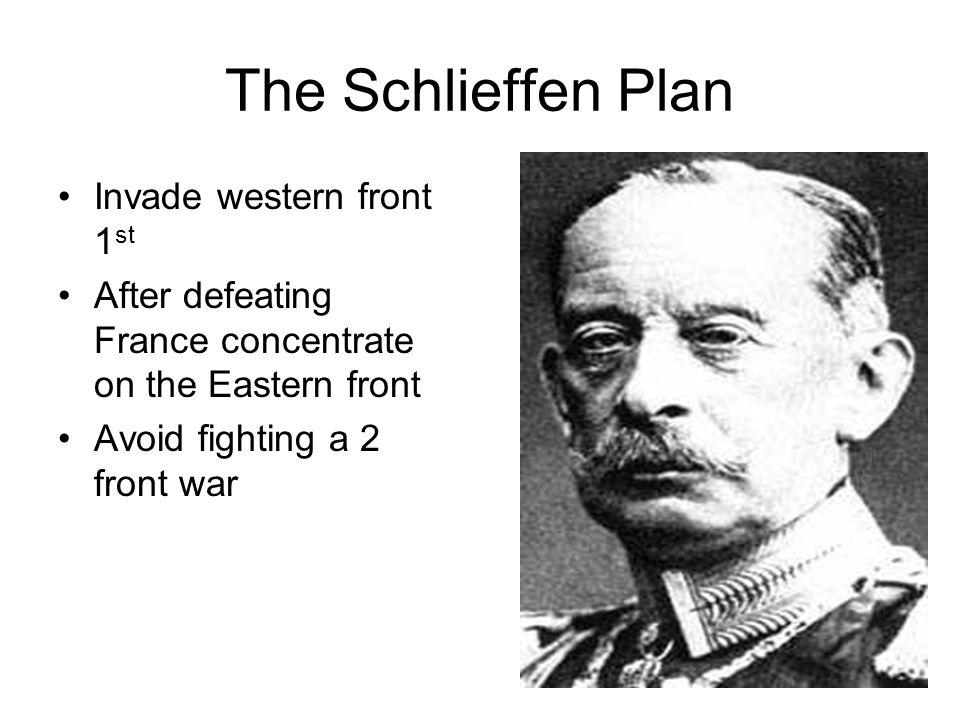 The Schlieffen Plan Invade western front 1st