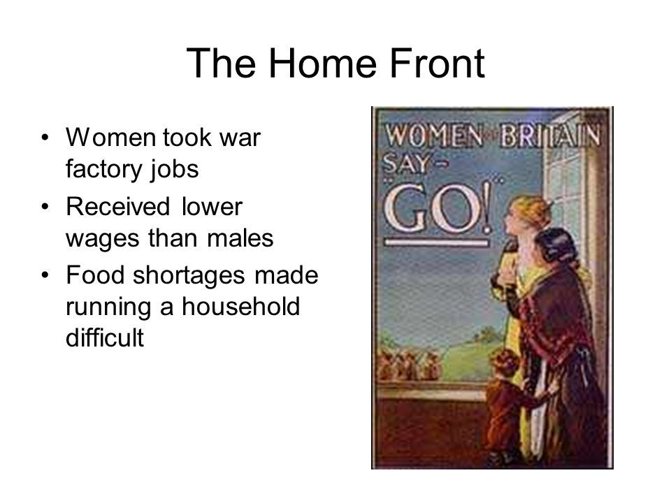 The Home Front Women took war factory jobs