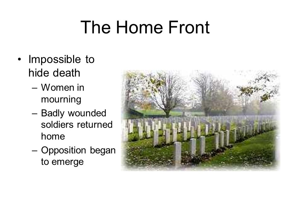The Home Front Impossible to hide death Women in mourning