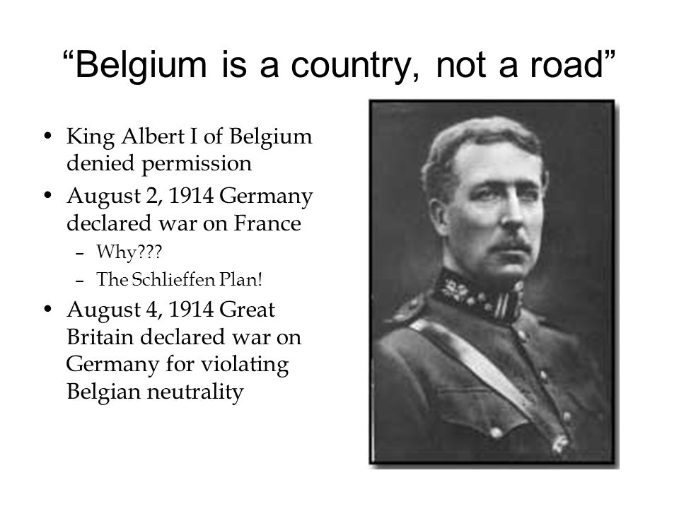 Belgium is a country, not a road