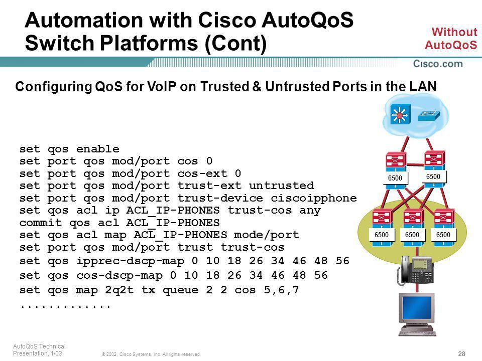 Configuring QoS for VoIP on Trusted & Untrusted Ports in the LAN