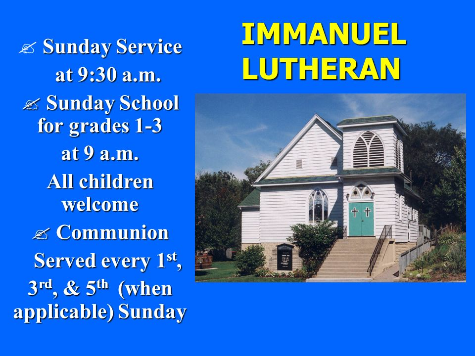 Sunday School for grades 1-3 3rd, & 5th (when applicable) Sunday