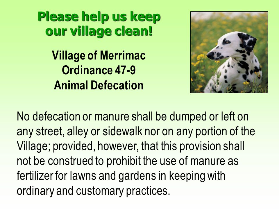Please help us keep our village clean