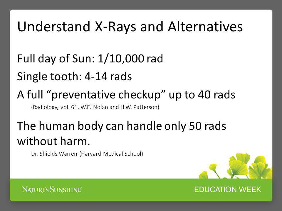 Understand X-Rays and Alternatives