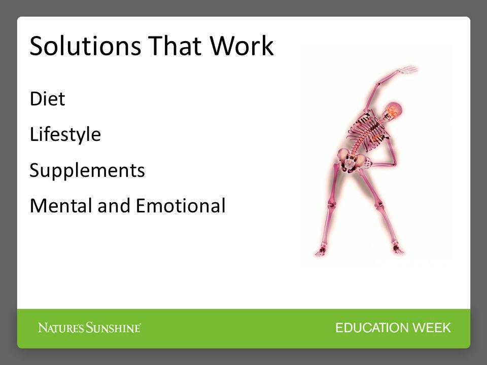 Solutions That Work Diet Lifestyle Supplements Mental and Emotional