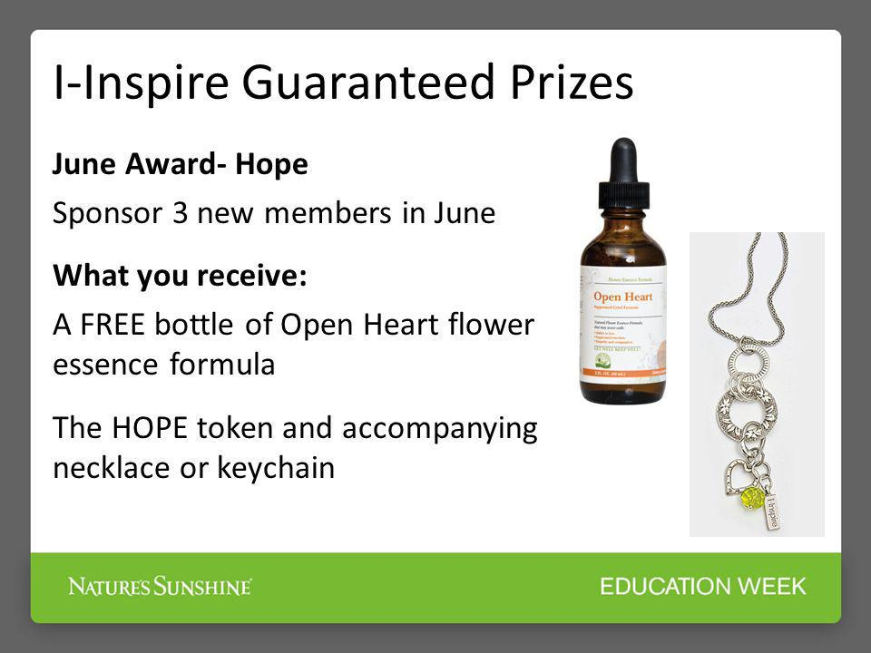 I-Inspire Guaranteed Prizes