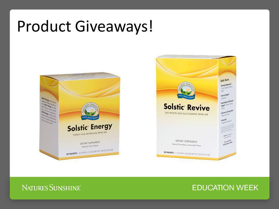 Product Giveaways!