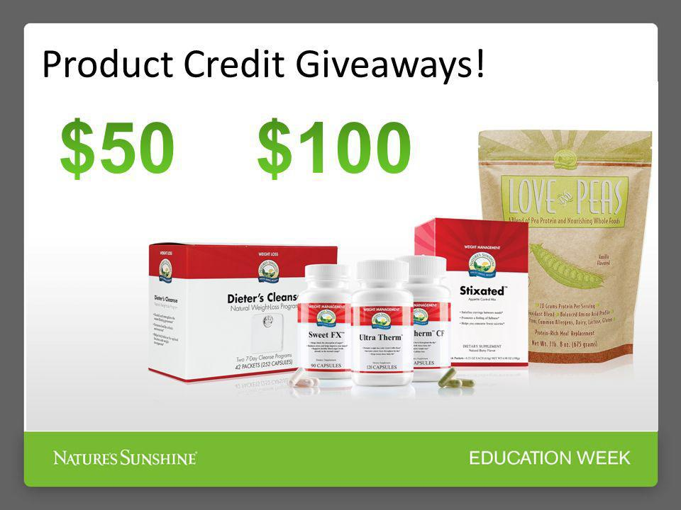 Product Credit Giveaways!