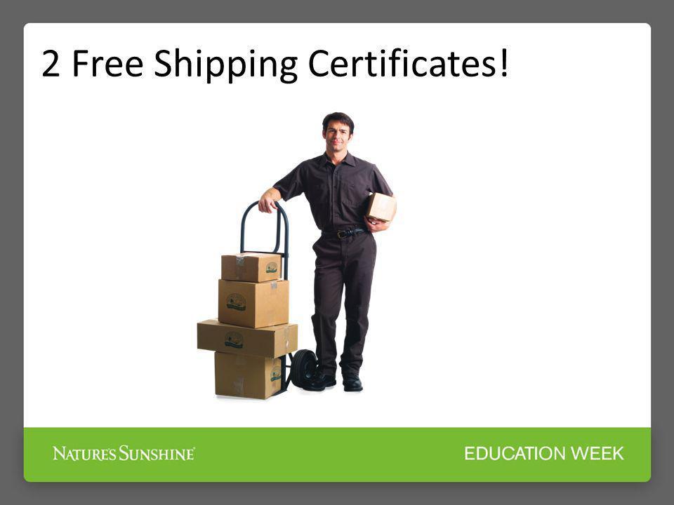 2 Free Shipping Certificates!